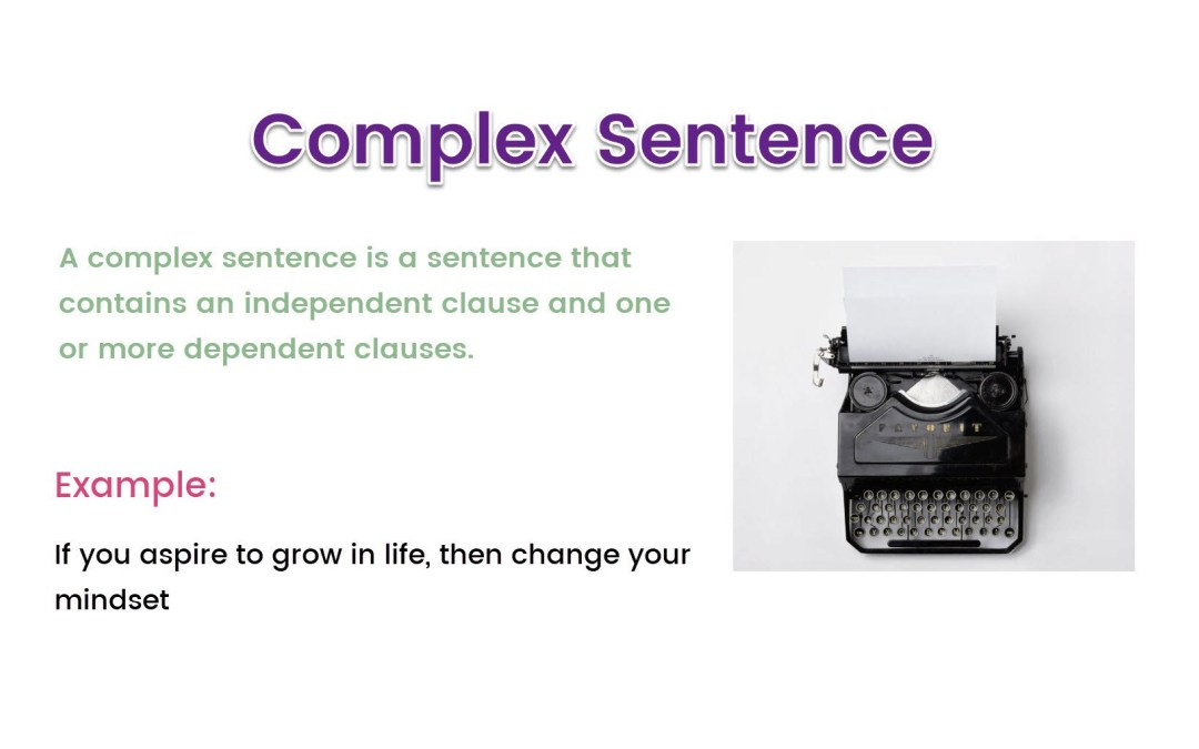 complex sentence examples for blog writing