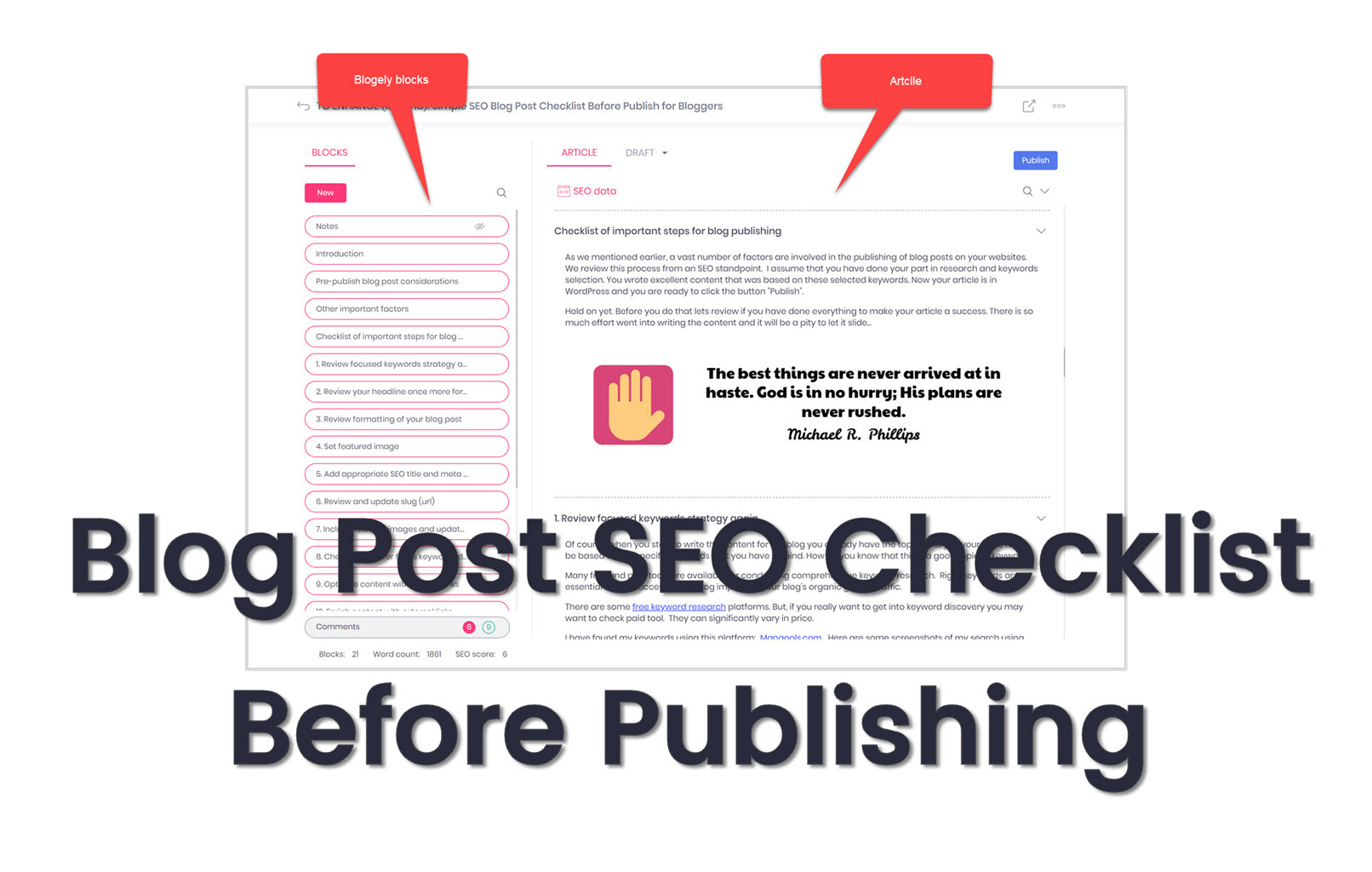 SEO blog post checklist ( blog SEO)