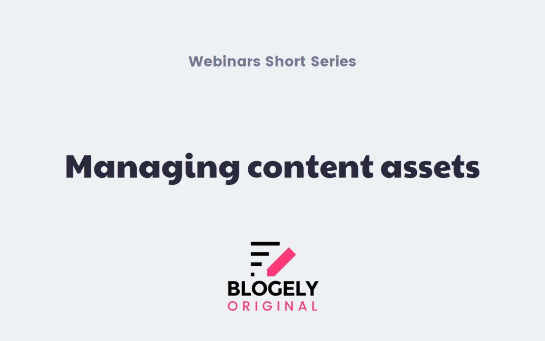 Blogely Content Assets Management