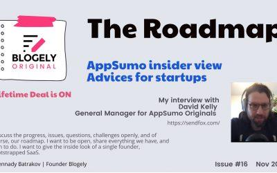 ROADMAP – Interview with David Kelly – GM AppSumo Originals