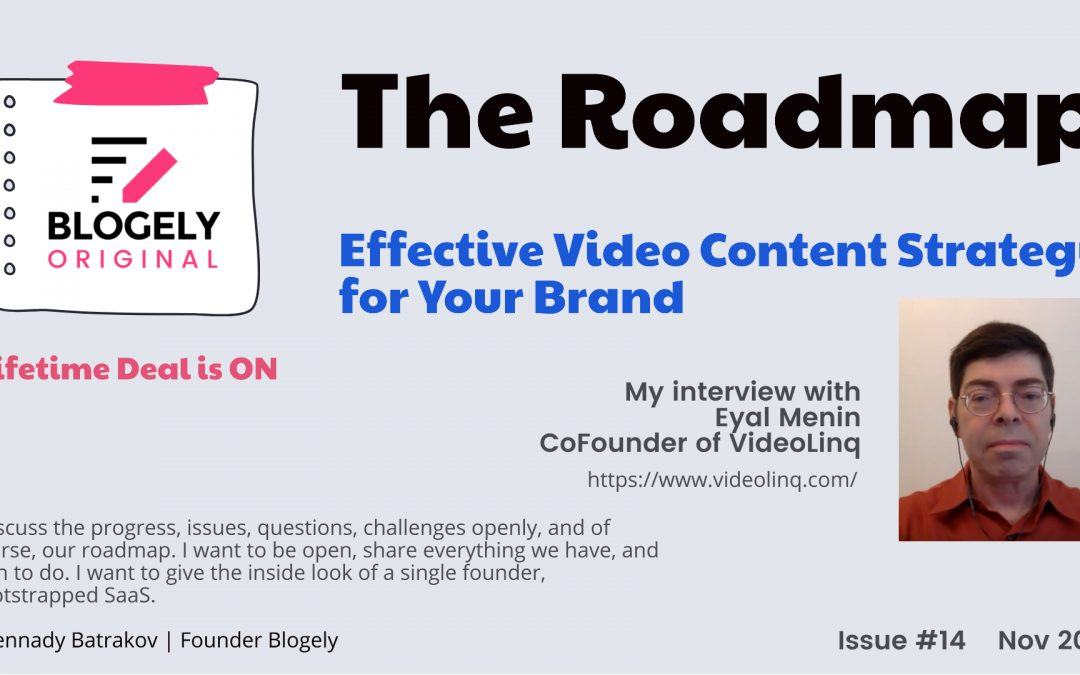 ROADMAP – Interview with Eyal Menin VideoLinq CoFounder