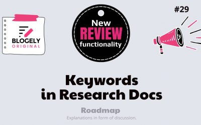 More on Research – Keywords, Data, and Notes