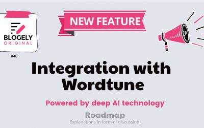 Wordtune integration with Blogely