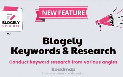Keywords in Blogely – Related, Autocomplete, Questions, and Ideas