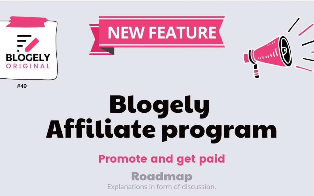 Blogely affiliate program