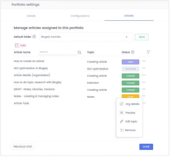 Content portfolio hosting software