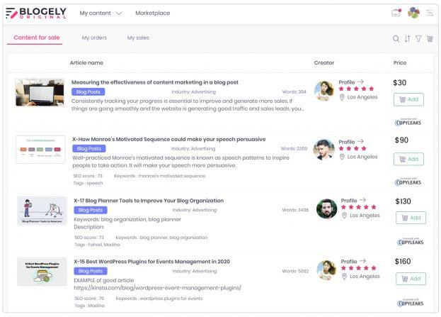 Content marketplace