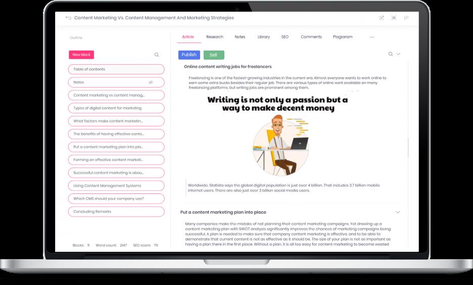 Blog content management software for blog seo