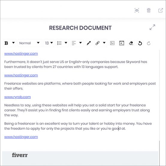 Content management app - research docs
