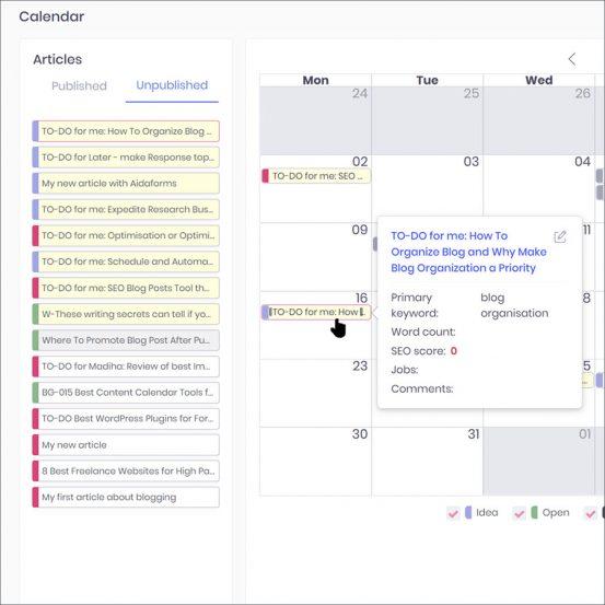 Content marketing software editorial calendar scheduling