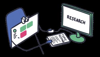 blog research app